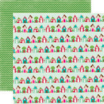 Echo Park - Holly Jolly Christmas Collection - 12 x 12 Double Sided Paper - Up On The Housetop