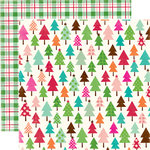 Echo Park - Holly Jolly Christmas Collection - 12 x 12 Double Sided Paper - Snowy Tree Tops