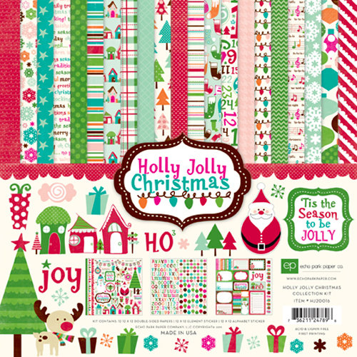 Echo Park - Holly Jolly Christmas Collection - 12 x 12 Collection Kit