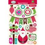 Echo Park - Holly Jolly Christmas Collection - Layered Chipboard Stickers