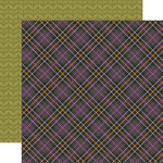 Echo Park - Hocus Pocus Collection - Halloween - 12 x 12 Double Sided Paper - Plaid