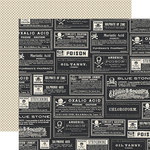 Echo Park - Hocus Pocus Collection - Halloween - 12 x 12 Double Sided Paper - Poison Labels