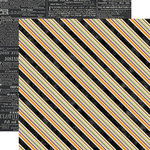 Echo Park - Hocus Pocus Collection - Halloween - 12 x 12 Double Sided Paper - Multi Stripe