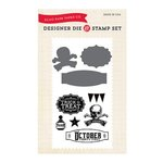 Echo Park - Hocus Pocus Collection - Halloween - Designer Die and Clear Acrylic Stamp Set - October 31st