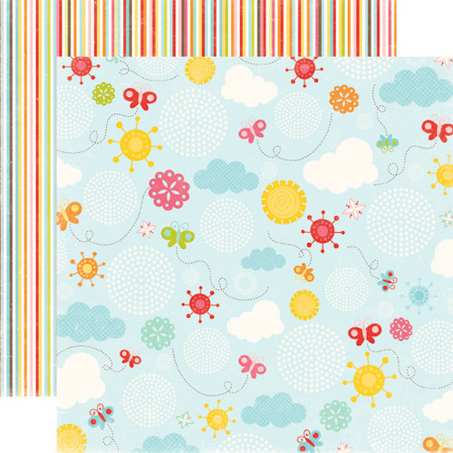 Echo Park - Hello Summer Collection - 12 x 12 Double Sided Paper - Butterfly Sky