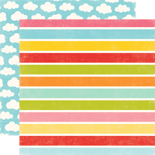 Echo Park - Hello Summer Collection - 12 x 12 Double Sided Paper - Wide Stripes