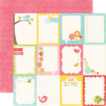 Echo Park - Hello Summer Collection - 12 x 12 Double Sided Paper - Journaling Cards