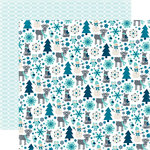 Echo Park - Hello Winter Collection - 12 x 12 Double Sided Paper - Snow Friends