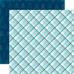 Echo Park - Hello Winter Collection - 12 x 12 Double Sided Paper - Arctic Plaid