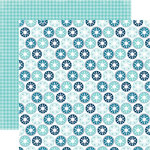 Echo Park - Hello Winter Collection - 12 x 12 Double Sided Paper - Icy Snowflakes
