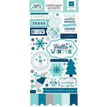 Echo Park - Hello Winter Collection - Chipboard Stickers