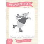 Echo Park - Hello Winter Collection - Designer Dies - Skating Bear