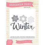 Echo Park - Hello Winter Collection - Designer Dies - Winter Snow