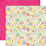 Echo Park - I Love Sunshine Collection - 12 x 12 Double Sided Paper - Pinwheel Afternoon