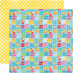 Echo Park - I Love Sunshine Collection - 12 x 12 Double Sided Paper - Sandy Toes