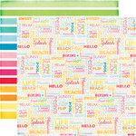 Echo Park - I Love Sunshine Collection - 12 x 12 Double Sided Paper - Sunshine Beach