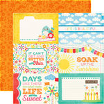 Echo Park - I Love Sunshine Collection - 12 x 12 Double Sided Paper - 4 x 6 Journaling Cards