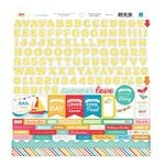 Echo Park - I Love Sunshine Collection - 12 x 12 Cardstock Stickers - Alphabet