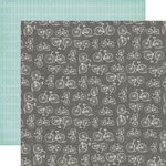 Echo Park - Jack and Jill Collection - Boy - 12 x 12 Double Sided Paper - Bicycles