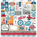 Echo Park - Jack and Jill Collection - Boy - 12 x 12 Cardstock Stickers - Elements