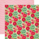 Echo Park - Jack and Jill Collection - Girl - 12 x 12 Double Sided Paper - Jill Floral