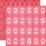 Echo Park - Jack and Jill Collection - Girl - 12 x 12 Double Sided Paper - Number Circles