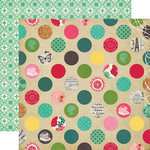 Echo Park - Jack and Jill Collection - Girl - 12 x 12 Double Sided Paper - Delightful Dots