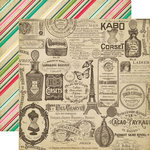 Echo Park - Jack and Jill Collection - Girl - 12 x 12 Double Sided Paper - Vintage Ads