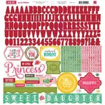 Echo Park - Jack and Jill Collection - Girl - 12 x 12 Cardstock Stickers - Alphabet