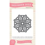 Echo Park - Jack and Jill Collection - Girl - Designer Dies - Heart Doily