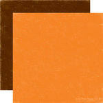 Echo Park - Little Boy Collection - 12 x 12 Double Sided Paper - Orange and Chocolate