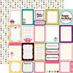 Echo Park - Little Girl Collection - 12 x 12 Double Sided Paper - Journaling Cards, CLEARANCE