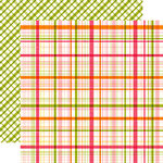Echo Park - Little Girl Collection - 12 x 12 Double Sided Paper - Madison Plaid
