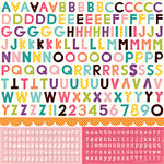 Echo Park - Little Girl Collection - 12 x 12 Cardstock Stickers - Alphabet