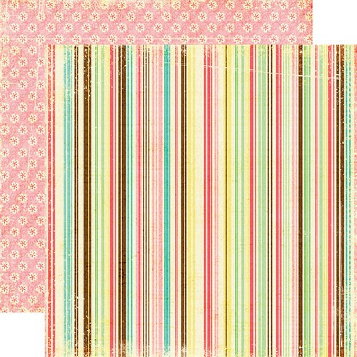 Echo Park - Life is Good Collection - 12 x 12 Double Sided Paper - Simple Stripes, CLEARANCE