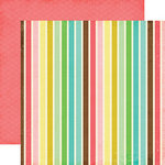 Echo Park - Life is Good Collection - 12 x 12 Double Sided Paper - Bold Stripes, CLEARANCE
