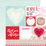 Echo Park - Lucky In Love Collection - 12 x 12 Double Sided Paper - Be Mine