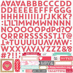 Echo Park - Lucky In Love Collection - 12 x 12 Cardstock Stickers - Alphabet