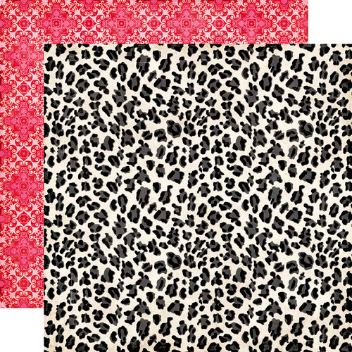 Echo Park - Love Story Collection - 12 x 12 Double Sided Paper - Leopard Print