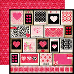 Echo Park - Love Story Collection - 12 x 12 Double Sided Paper - Snapshots