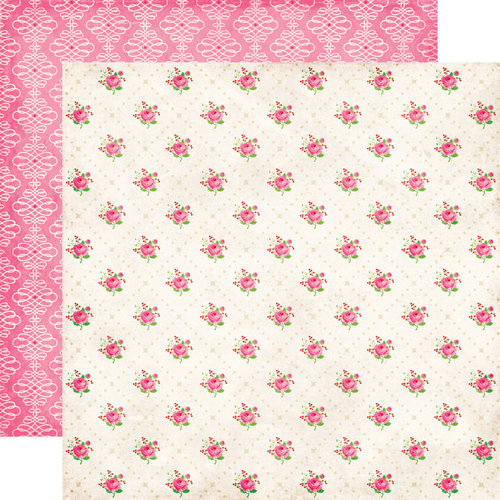 Echo Park - Love Story Collection - 12 x 12 Double Sided Paper - Cupcake Roses