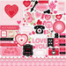 Echo Park - Love Story Collection - 12 x 12 Cardstock Stickers - Elements
