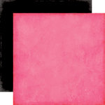 Echo Park - Love Story Collection - 12 x 12 Double Sided Paper - Dark Pink