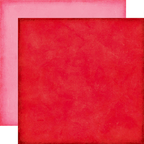 Echo Park - Love Story Collection - 12 x 12 Double Sided Paper - Red