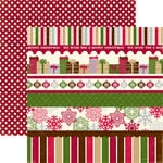 Echo Park - Merry Christmas Collection - 12 x 12 Double Sided Paper - Merry Border Strip, CLEARANCE