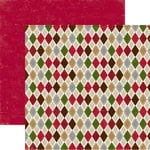 Echo Park - Merry Christmas Collection - 12 x 12 Double Sided Paper - Christmas Argyle, CLEARANCE