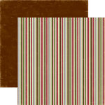 Echo Park - Merry Christmas Collection - 12 x 12 Double Sided Paper - Jolly Stripe, CLEARANCE