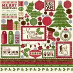 Echo Park - Merry Christmas Collection - 12 x 12 Cardstock Stickers - Element, CLEARANCE
