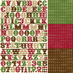 Echo Park - Merry Christmas Collection - 12 x 12 Cardstock Stickers - Alphabet, CLEARANCE