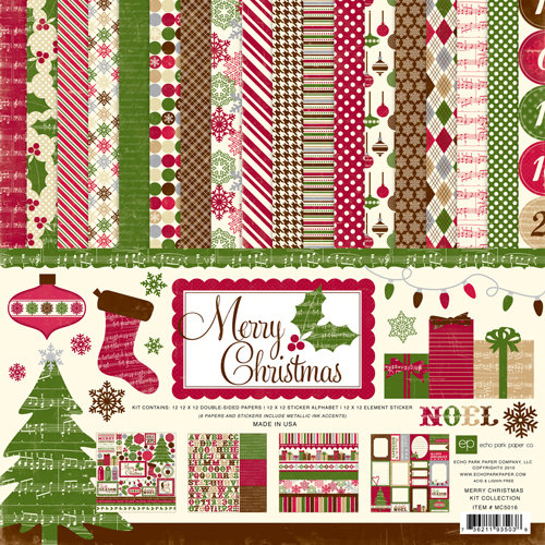 Echo Park - Merry Christmas Collection - Collection Kit, CLEARANCE